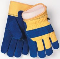 1568 Split Leather/Cotton Winter Gloves