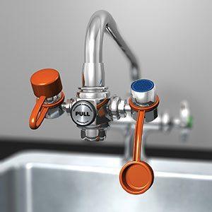 G1100 and G1101 EyeSafe™ and EyeSafe-X™ Faucet-Mounted Eyewashes