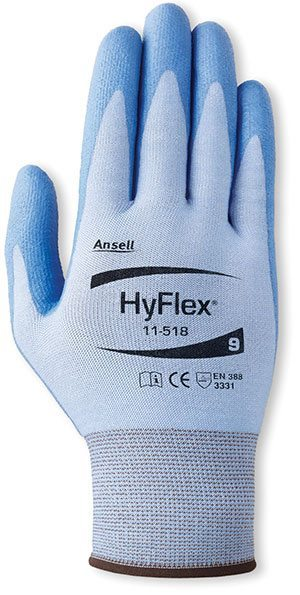 HyFlex® 11-518 First-To-Market Ultralight Cut-Resistant Gloves