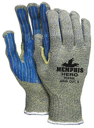 Memphis Hero™ Gloves with PVC Stripes