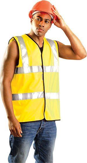 Class 2 Premium Solid Dual Stripe Vest