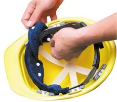 Terry Toppers® Snap-On Sweatbands for Hard Hats