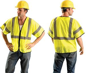 Class 3 Value Zipper-Front Mesh Vests