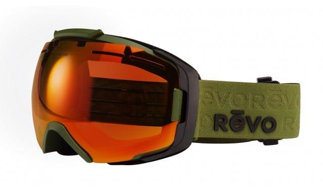 Revo Echo - Military Green SOLAR ORANGE POLARIZED PHOTOCHROMATIC LENS