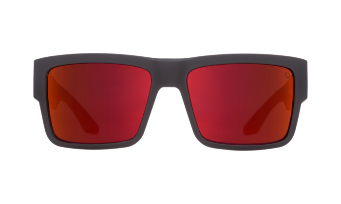 Cyrus Soft Matte Black/red Fade - Happy Gray Green W/red Flash - Image 1