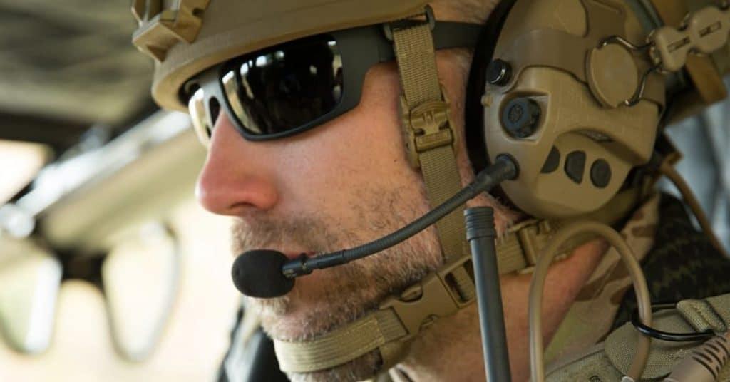 Soldiers wearing regular glasses