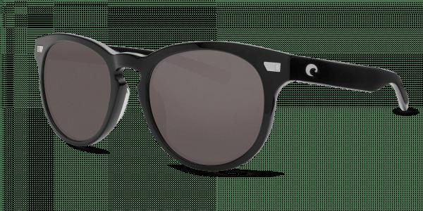 Del Mar Sunglasses del11-shiny-black-gray-lens-angle2.png