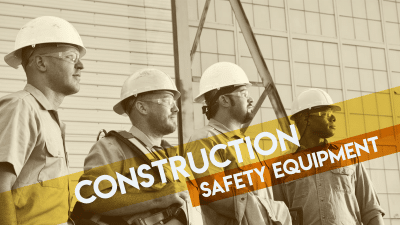construction men wearing safety equipment