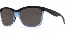 Anaa Sunglasses ana97-shiny-black-crystal-light-blue-gray-lens-angle2