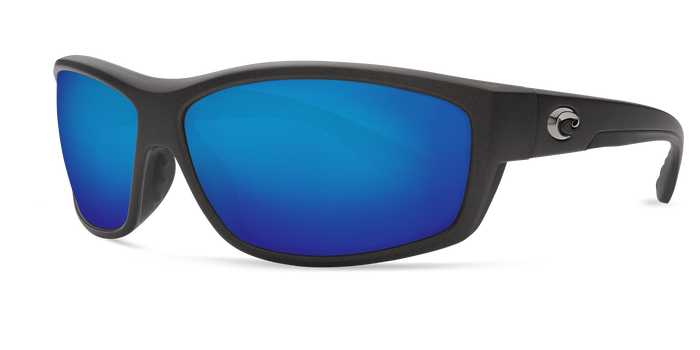 Saltbreak Sunglasses bk188-matte-steel-gray-metallic-blue-mirror-lens-angle2.png
