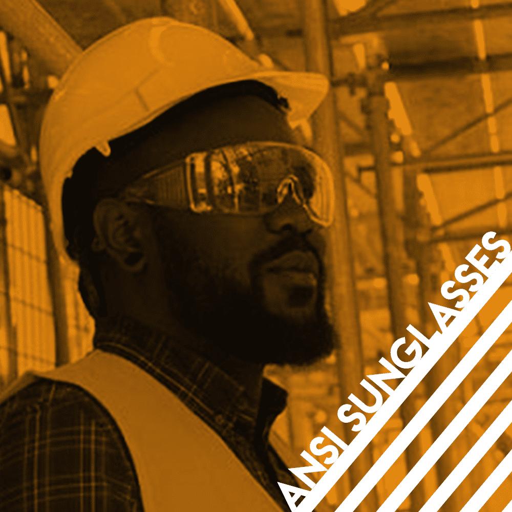 african american man wearing ansi sunglasses