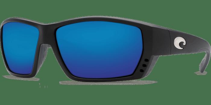 Tuna Alley Sunglasses ta11-matte-black-blue-mirror-lens-angle2.png