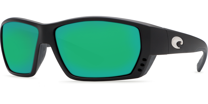 Tuna Alley Sunglasses ta11-matte-black-green-mirror-lens-angle2.png