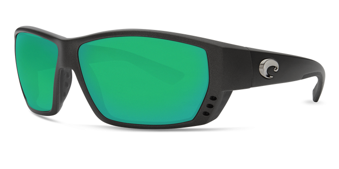 Tuna Alley Sunglasses ta188-matte-steel-gray-metallic-green-mirror-lens-angle2.png