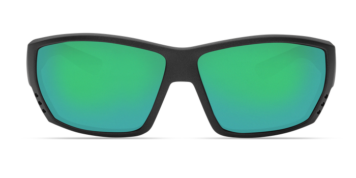 Tuna Alley Sunglasses ta188-matte-steel-gray-metallic-green-mirror-lens-angle3.png