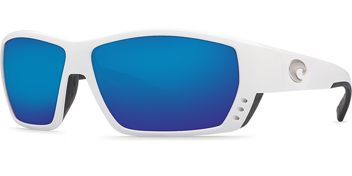 Tuna Alley Sunglasses ta25-white-blue-mirror-lens-angle2.png