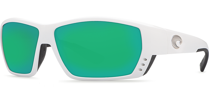 Tuna Alley Sunglasses ta25-white-green-mirror-lens-angle2.png