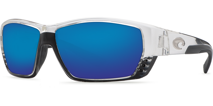 Tuna Alley Sunglasses ta39-shiny-crystal-blue-mirror-lens-angle2.png