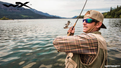 man wearing wiley x fishing