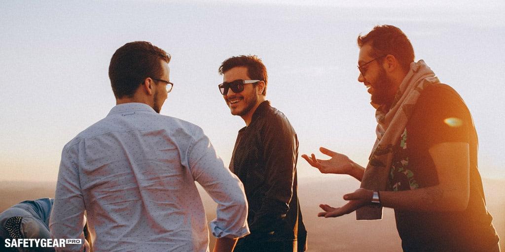 three men wearing sunglasses