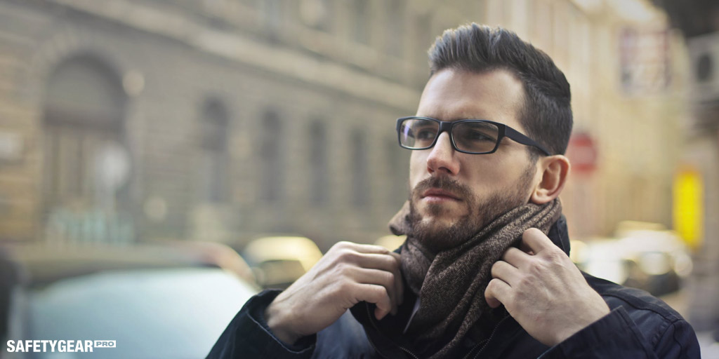 man wearing tinted sunglasses