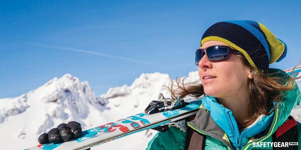 woman wearing wiley x while skiing