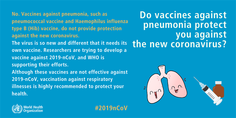 Do vaccines against pneumonia protect you against the new coronavirus?