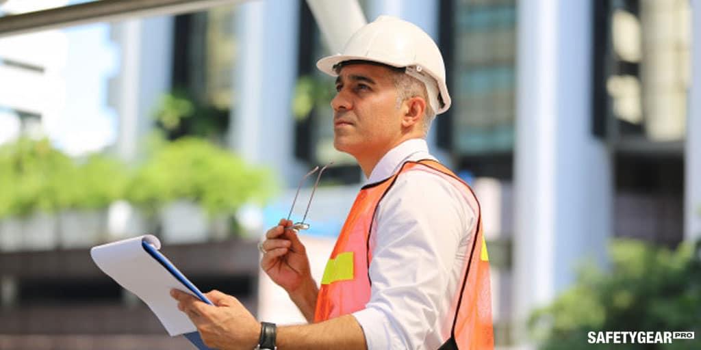 man working wearing hardhat
