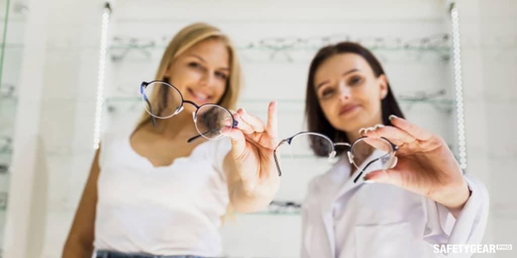 two women showing their prescription sunglasses