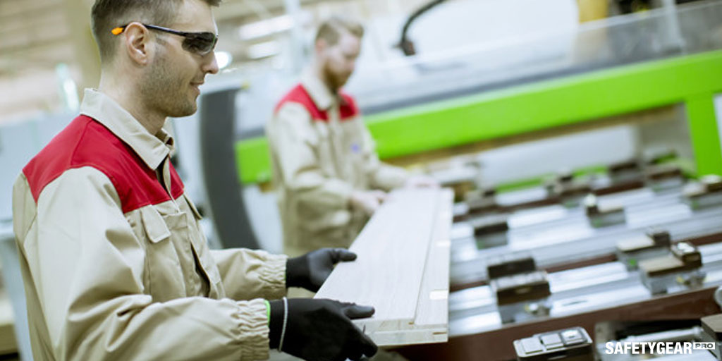 Men working wearing safety gears