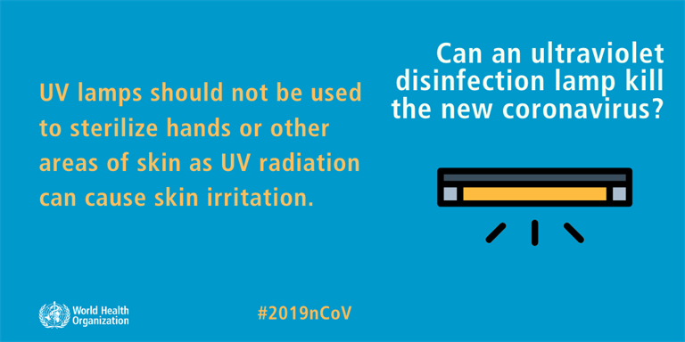 Can an ultraviolet disinfection lamp kill the new coronavirus?