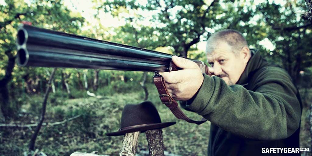 Man using shooting gun