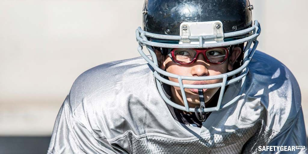 man wearing sports prescription glasses